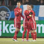 10-02-2017: Voetbal: FC Den Bosch v Almere City FC: Den Bosch (L-R) Lars Nieuwpoort (Almere City FC), Gaston Salasiwa (Almere City FC), Tom Overtoom (Almere City FC) Jupiler League 2016 / 2017
