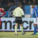 10-02-2017: Voetbal: FC Den Bosch v Almere City FC: Den Bosch (L-R) Edwin van de Graaf  (Scheidsrechter), Jeremy Fernandes (FC Den Bosch) Jupiler League 2016 / 2017