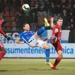 10-02-2017: Voetbal: FC Den Bosch v Almere City FC: Den Bosch (L-R) Niek Vossebelt (FC Den Bosch), Damon Mirani (Almere City FC) Jupiler League 2016 / 2017