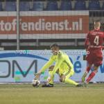 10-02-2017: Voetbal: FC Den Bosch v Almere City FC: Den Bosch (L-R) Chiel Kramer (Almere City FC), Lars Nieuwpoort (Almere City FC) Jupiler League 2016 / 2017