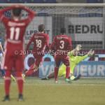 10-02-2017: Voetbal: FC Den Bosch v Almere City FC: Den Bosch (L-R) Niek Vossebelt (FC Den Bosch), Javier Vet (Almere City FC), Calvin Mac Intosch (Almere City FC), Chiel Kramer (Almere City FC) Jupiler League 2016 / 2017