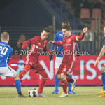 10-02-2017: Voetbal: FC Den Bosch v Almere City FC: Den Bosch (L-R)Luuk Brouwers (FC Den Bosch), Gaston Salasiwa (Almere City FC), Tom Overtoom (Almere City FC), Niek Vossebelt (FC Den Bosch) Jupiler League 2016 / 2017