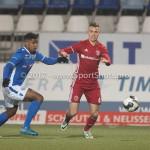 10-02-2017: Voetbal: FC Den Bosch v Almere City FC: Den Bosch (L-R) Brandon Robinson (FC Den Bosch), Lars Nieuwpoort (Almere City FC) Jupiler League 2016 / 2017
