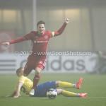 Voetbal: Almere City v SC Cambuur: Almere (L-R) Jurjan Mannes (SC Cambuur), Tom Overtoom (Almere City FC) Jupiler League 2016 / 2017