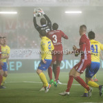 Voetbal: Almere City v SC Cambuur: Almere (L-R) Robbert Schilder (SC Cambuur), Harm Zeinstra (SC Cambuur), Calvin Mac Intosch (Almere City FC) Jupiler League 2016 / 2017