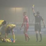 Voetbal: Almere City v SC Cambuur: Almere (L-R) Lars Nieuwpoort (Almere City FC), Martin van den Kerkhof (Scheidsrechter) Jupiler League 2016 / 2017