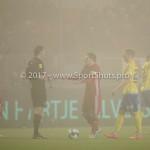 Voetbal: Almere City v SC Cambuur: Almere (L-R) Martin van den Kerkhof (Scheidsrechter), Tom Overtoom (Almere City FC) Jupiler League 2016 / 2017
