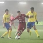Voetbal: Almere City v SC Cambuur: Almere (L-R) Tom Overtoom (Almere City FC), Tarik Tissoudali (SC Cambuur) Jupiler League 2016 / 2017