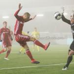 Voetbal: Almere City v SC Cambuur: Almere (L-R) Silvester van de Water (Almere City FC), Harm Zeinstra (SC Cambuur) Jupiler League 2016 / 2017