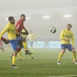 Voetbal: Almere City v SC Cambuur: Almere (L-R) Marvin Peersman (SC Cambuur), Calvin Mac Intosch (Almere City FC) Jupiler League 2016 / 2017