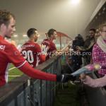 Voetbal: Almere City v SC Cambuur: Almere (L-R) Jeffrey Rijsdijk (Almere City FC), Gaston Salasiwa (Almere City FC), Damon Mirani (Almere City FC) Jupiler League 2016 / 2017