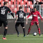 18-02-2017: Voetbal: Jong Almere City FC v IJsselmeervogels: Almere Arsenio Valpoort (Almere City FC) 3de divisie zaterdag 2016 /2017