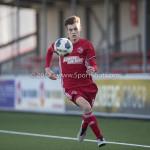 18-02-2017: Voetbal: Jong Almere City FC v IJsselmeervogels: Almere Maarten Davids (Almere City FC) 3de divisie zaterdag 2016 /2017
