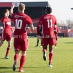 18-02-2017: Voetbal: Jong Almere City FC v IJsselmeervogels: Almere (L-R) Silvester van de Water (Almere City FC), Arsenio Valpoort (Almere City FC) 3de divisie zaterdag 2016 /2017
