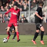 18-02-2017: Voetbal: Jong Almere City FC v IJsselmeervogels: Almere Faris Hammouti (Jong Almere City FC) 3de divisie zaterdag 2016 /2017