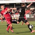 18-02-2017: Voetbal: Jong Almere City FC v IJsselmeervogels: Almere (L-R) Silvester van de Water (Almere City FC), Marciano van Leijenhorts (Ijsselmeervogels) 3de divisie zaterdag 2016 /2017