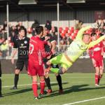 18-02-2017: Voetbal: Jong Almere City FC v IJsselmeervogels: Almere (L-R) Khalid Tadmine (Almere City FC), Jaimy Schaap (Ijsselmeervogels) 3de divisie zaterdag 2016 /2017