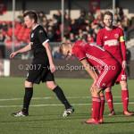 18-02-2017: Voetbal: Jong Almere City FC v IJsselmeervogels: Almere Silvester van de Water (Almere City FC) 3de divisie zaterdag 2016 /2017