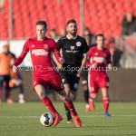 18-02-2017: Voetbal: Jong Almere City FC v IJsselmeervogels: Almere Nicky van Hilten (Jong Almere City FC) 3de divisie zaterdag 2016 /2017