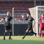 18-02-2017: Voetbal: Jong Almere City FC v IJsselmeervogels: Almere (L-R) Berry Powel (Ijsselmeervogels), Oktay Ozturk (Ijsselmeervogels) 3de divisie zaterdag 2016 /2017