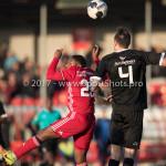18-02-2017: Voetbal: Jong Almere City FC v IJsselmeervogels: Almere (L-R) Shaquille Sno (Almere City FC), Ralph Hovestad (Ijsselmeervogels) 3de divisie zaterdag 2016 /2017