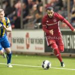 24-02-2017: Voetbal: Almere City FC v FC Oss: Almere (L-R) Jochem Jansen (FC Oss), Soufyan Ahannach (Almere City FC) Jupiler League 2016 / 2017