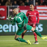 24-02-2017: Voetbal: Almere City FC v FC Oss: Almere (L-R) Jordy Deckers (FC Oss), Arsenio Valpoort (Almere City FC) Jupiler League 2016 / 2017