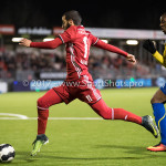 24-02-2017: Voetbal: Almere City FC v FC Oss: Almere (L-R) Soufyan Ahannach (Almere City FC), Dominique Kivuvu (FC Oss) Jupiler League 2016 / 2017
