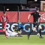 24-02-2017: Voetbal: Almere City FC v FC Oss: Almere (L-R) Chiel Kramer (Almere City FC), Justin Mathieu (FC Oss) Jupiler League 2016 / 2017