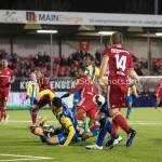 24-02-2017: Voetbal: Almere City FC v FC Oss: Almere (L-R) Dylan de Braal (FC Oss), Calvin Mac Intosch (Almere City FC) Jupiler League 2016 / 2017