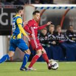 24-02-2017: Voetbal: Almere City FC v FC Oss: Almere (L-R) Fatih Kamaci (FC Oss), Gaston Salasiwa (Almere City FC) Jupiler League 2016 / 2017