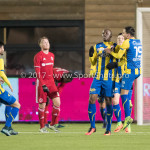 24-02-2017: Voetbal: Almere City FC v FC Oss: Almere (L-R) Dominique Kivuvu (FC Oss), Justin Mathieu (FC Oss) Jupiler League 2016 / 2017