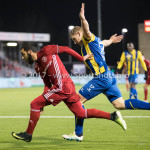 24-02-2017: Voetbal: Almere City FC v FC Oss: Almere (L-R) Soufyan Ahannach (Almere City FC), Jochem Jansen (FC Oss) Jupiler League 2016 / 2017