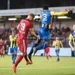 24-02-2017: Voetbal: Almere City FC v FC Oss: Almere (L-R) Rick ten Voorde (Almere City FC), Lorenzo Piqué (FC Oss) Jupiler League 2016 / 2017