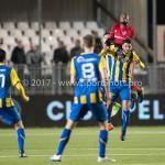 24-02-2017: Voetbal: Almere City FC v FC Oss: Almere (L-R) Calvin Mac Intosch (Almere City FC), Fatih Kamaci (FC Oss) Jupiler League 2016 / 2017