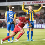 24-02-2017: Voetbal: Almere City FC v FC Oss: Almere Sherjill Mac-Donalds (Almere City FC) Jupiler League 2016 / 2017