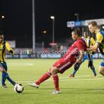 24-02-2017: Voetbal: Almere City FC v FC Oss: Almere (L-R) Sherjill Mac-Donalds (Almere City FC), Rick Stuy van den Herik (FC Oss) Jupiler League 2016 / 2017