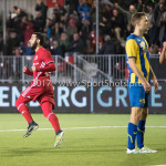 24-02-2017: Voetbal: Almere City FC v FC Oss: Almere (L-R) Soufyan Ahannach (Almere City FC), Rick ten Voorde (Almere City FC) Jupiler League 2016 / 2017