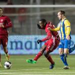 24-02-2017: Voetbal: Almere City FC v FC Oss: Almere (L-R) Calvin Mac Intosch (Almere City FC), Istvan Bakx (FC Oss) Jupiler League 2016 / 2017