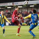 24-02-2017: Voetbal: Almere City FC v FC Oss: Almere (L-R) Javier Vet (Almere City FC), Lorenzo Piqué (FC Oss) Jupiler League 2016 / 2017