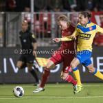 13-03-2017: Voetbal: Almere City FC v FC Dordrecht: Almere (L-R) Jeffrey Rijsdijk (Almere City FC), Luivienno Statia (FC Dordrecht) Jupiler League 2016 / 2017