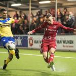 13-03-2017: Voetbal: Almere City FC v FC Dordrecht: Almere (L-R) Mawouna Amevor (FC Dordrecht), Lars Nieuwpoort (Almere City FC) Jupiler League 2016 / 2017