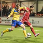 13-03-2017: Voetbal: Almere City FC v FC Dordrecht: Almere (L-R) Joey Godee (FC Dordrecht), Gaston Salasiwa (Almere City FC) Jupiler League 2016 / 2017