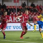 13-03-2017: Voetbal: Almere City FC v FC Dordrecht: Almere (L-R) Damon Mirani (Almere City FC), Rick ten Voorde (Almere City FC), Luivienno Statia (FC Dordrecht) Jupiler League 2016 / 2017