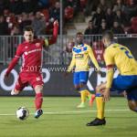 13-03-2017: Voetbal: Almere City FC v FC Dordrecht: Almere (L-R) Tom Overtoom (Almere City FC), Mawouna Amevor (FC Dordrecht) Jupiler League 2016 / 2017