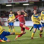 13-03-2017: Voetbal: Almere City FC v FC Dordrecht: Almere (L-R) Joris Kramer (FC Dordrecht), Silvester van de Water (Almere City FC) Jupiler League 2016 / 2017