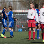 25-03-2017: Voetbal: Almere City FC O13 v de Foresters O13: Almere (L-R)Dychayro Naarendorp (Almere City FC O13), Sander Assenberg (Almere City FC O13) Seizoen 2016 / 2017