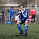 25-03-2017: Voetbal: Almere City FC O13 v de Foresters O13: Almere Pieter Veenstra (Almere City FC O13) Seizoen 2016 / 2017
