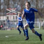 25-03-2017: Voetbal: Almere City FC O13 v de Foresters O13: Almere Sander Assenberg (Almere City FC O13) Seizoen 2016 / 2017