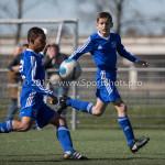 25-03-2017: Voetbal: Almere City FC O13 v de Foresters O13: Almere (L-R) Noah Gesser (Almere City FC O13), Pieter Veenstra (Almere City FC O13) Seizoen 2016 / 2017